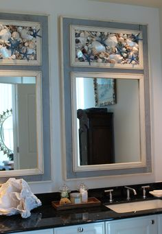 Seashell Mirrors by MY HONEYPICKLES www.etsy.com/shop/myhoneypickles. OMG THOSE ARE GORGEOUS!!!