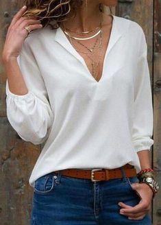 How to rock the casual chic look Casual Chic, Casual Tops, Smart Casual, Look Fashion, Fashion Outfits, Womens Fashion, Cheap Fashion, Feminine Fashion, Curvy Fashion