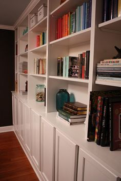 built-in bookshelves-what I want downstairs.