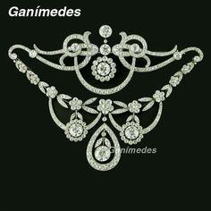 Broche corsage Edwardiano circa 1905, diamantes