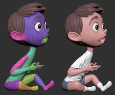 Don't sit too close, Peter Sandeman Zbrush Character, 3d Model Character, Character Modeling, Game Character, Character Concept, 3d Modeling, Cute Characters, Cartoon Characters, Face Topology