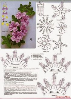 lo spazio di lilla: Fiori all'uncinetto, schemi gratuiti /Free crochet flowers…