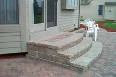 patio stairs ideas | Here are some more ideas for Encased Paver Steps: