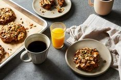 """From Joanne Chang of Flour Bakery and Myers+Chang: """"I know that people often don't have time for breakfast, so I wanted to create something easy to eat on the run and full of whole grains and nuts and seeds, because that's what I personally love to eat. I saw a picture in Bon Appétit of a breakfast cookie and wondered if we could come up with something similar. We tested this for weeks, adding a bit of this and that and continuing to improve it so that it was not too sweet but still a li... Breakfast Cookie Recipe, Cookie Recipes, Breakfast Recipes, Flour Bakery, Millet Recipes, Diet Meal Plans To Lose Weight, Food 52, Cookies Et Biscuits, Food And Drink"""