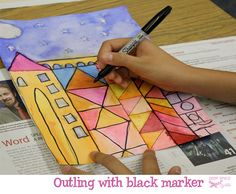 Paul Klee Art Lesson - shape, colour, line