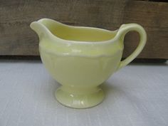 Pastel Yellow Creamer Vintage Small Creamer by MyVintageTable