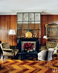 Find home décor inspiration at Architectural Digest. Everything you'll need to design each and every room in your house, from the kitchen to the master suite. Architectural Digest, Cheap Apartment For Rent, Farmhouse Side Table, Farmhouse Style, Floor Patterns, Decorating On A Budget, My Living Room, Cozy Living, Small Rooms