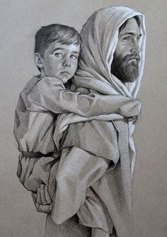 Jesus and St. Christian Artwork, Christian Images, Lds Art, Bible Art, Pictures Of Jesus Christ, Jesus Art, Prophetic Art, Biblical Art, Jesus Is Lord