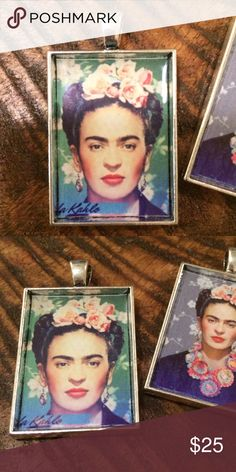 """Frida Kahlo Pendant necklace or keychain charm Beautiful Frida Kahlo portrait pendant. String it on a chain to wear as a necklace, or add it to your keyring. Not UO. Other Frida designs also available.  ❤️Glossy finish ❤️Antiqued silver-tone pendant measures 25mm x 35mm (approx. 1"""" x 1.5"""") ❤️Pendant only; chain NOT included ❤️Great for holiday gifting!! ❤️Price is firm unless bundled 🚫Trades 🚫Modeling  Also available on Etsy @TotallyTwitterpated Urban Outfitters Jewelry Necklaces"""