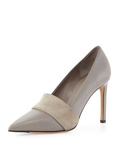 Carmel Suede-Band Pump, Woodsmoke by Vince at Neiman Marcus.  I'm loving these colors!