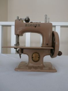 Vintage Miniature Singer Sewing Machine by Reminisce47 on Etsy