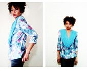 80's M Blue Tapestry Jacket