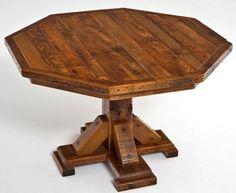 LOVE Octagon tables! Barnwood Table Octagon