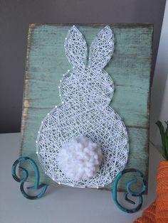 Fluffly Bunny String Art by GirlwithGlue on Etsy