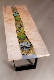 Resultado de imagen para wood and resin table