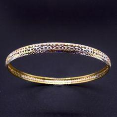 Bracciale traforato da 5mm tricolore galvanico. Disponibile anche in oro.