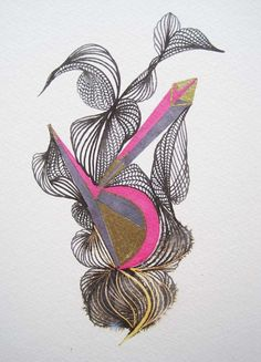 Contemporary Art Abstract Original ink