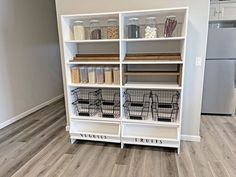Food ... it is a revolving storage and organization challenge that we all deal with. A pantry is a must in new homes. But what happens if you don't have an adequate pantry? Build your own custom pantry shelf and customize it for your needs. #anawhite #anawhiteplans #diy #pantry #organization Custom Pantry, Pantry Diy, Pantry Organization, Diy Wood Projects, Woodworking Projects, White Pantry, Cool Things To Make, Craft Things, Diy Furniture Plans