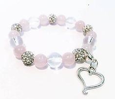 Náramky - Náramok na ruku ruženín, krištáľ a biela shamballa - 6934025_