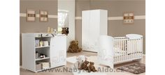 Discover the cutest baby bedroom Venise, with everything necessary for the baby's arrival and an evolutive changing table - starting at / month ! Baby Bedroom, Nursery Room, Nursery Furniture, Modern Furniture, Baby Arrival, Babys, Cribs, Kids Room, Toddler Bed