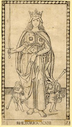 Master of the E-Series (active c. 1465), printmaker  Object name:print  Rhetoric (Rhetorica XXIII)