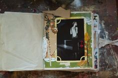 thick fabric cover August scrapbook