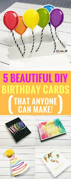 #birthdaycard #birthdayidea DIY Birthday Cards, Handmade easy, and simple Birthday Card Ideas, Balloon