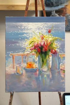 Oil Painting Pictures, Art Pictures, Painting Prints, Paintings, Acrylic Painting Techniques, Spring Art, Art Oil, Painting Inspiration, Flower Art
