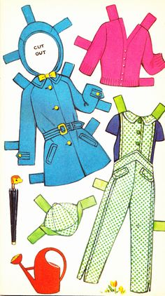 Wendy Cut Out Doll Dressing Storybook (4 of 6), 1950s, Sandles