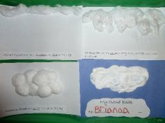 Don't forget the cotton balls when doing clouds in journals. Weather Theme: Clouds