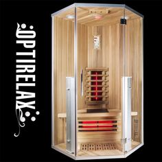 Infrarotsauna Infrarelax Shine ZE-100 | OPTIRELAX® Infrarot Sauna, Lounge, Led, Lockers, Locker Storage, The 100, Cabinet, Bathroom Ideas, Design