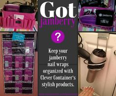 Needing to get your Jamberry wraps organized? Check out these $20 and under 'clever' storage solutions from Clever Container. www.mycleverbiz.com/lpulverenti