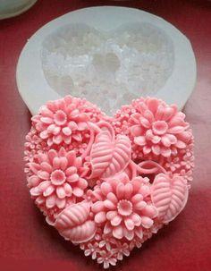 homemade pink heart soap