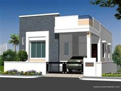 Individual House Elevation P L Plan Andhra Pradesh Style Ranch Elevations Drawings . Single Floor House Design, House Front Design, Cool House Designs, Modern House Design, Bungalow House Plans, Modern House Plans, Small House Plans, Independent House, Front Elevation Designs