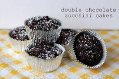 Double Chocolate Zucchini Cakes