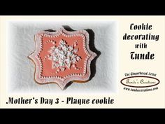 Heart shaped wedding cookie with rose - YouTube