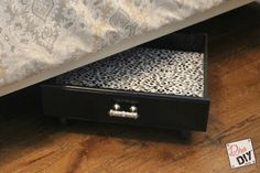 How to Use Old Drawers for Under Bed Storage Containers