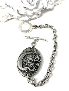 Solid Pewter Handmade Mermaid Interchangeable Bracelet Pendant – Bead Dangle Design