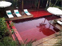 Piscina vermelha, dúvida de Elton Luís - Hardecor | HARDECOR | Decoração e Lifestyle