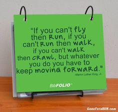 Keep moving forward - Finally a place to keep all those race bibs!