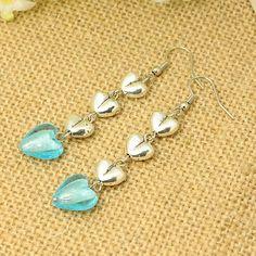 Tibetan Style Earrings, with Handmade Silver Foil Glass Beads