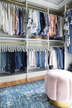 A Simply Beautiful Walk-in Closet Walk In Closet Design, Bedroom Closet Design, Master Bedroom Closet, Closet Designs, Dream Bedroom, Diy Walk In Closet, Walk Through Closet, Walk In Wardrobe, Organizing Walk In Closet