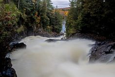 Images and info from an autumn visit to Oxtongue River - Ragged Falls Provincial Park. The waterfall is located just From the entrance to Algonquin. Algonquin Park, Waterfalls, River, Big, Places, Pictures, Outdoor, Image, Photos