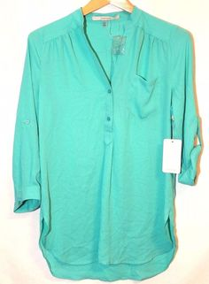 """NWT! 41Hawthorn for #Stitch ix """"Colibri Solid Tab Sleeve Blouse"""" Mint Green #41Hawthorn #Blouse #Career"""