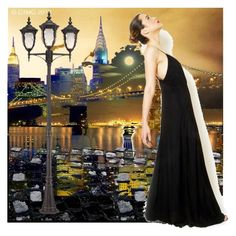 """""""Night and the City"""" by dmg555 ❤ liked on Polyvore featuring art"""