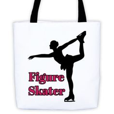 Figure Skater-Tote Bag with Silhouette