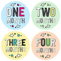 Baby Month Stickers - Baby Monthly Stickers for Girls and Boys - Cute Fun Letters - 1 to 12 months - Milestone Stickers - Typography Fonts 12 Month Milestones, Baby Monthly Milestones, Monthly Baby, Baby Month Stickers, Paper Ship, Cool Lettering, Boyfriend Birthday, Parent Gifts, Baby Month By Month