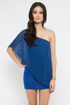 Only One Pleats Dress in Blue $25 at www.tobi.com
