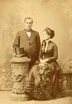 William and Ida McKinley, c1870s.