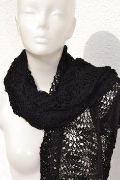 Lacetuch Tuch Schal in Wunschfarbe gestrickt von Masche21 auf Etsy